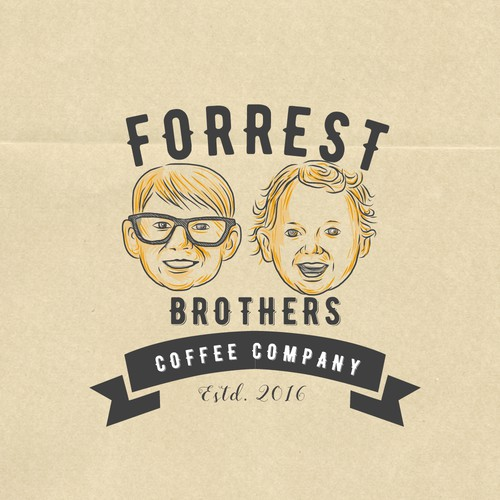 Toddler logo with the title 'Forrest Brothers Coffee Company'