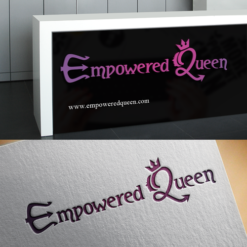 Queen logo with the title 'Logo for a women's empowerment company'
