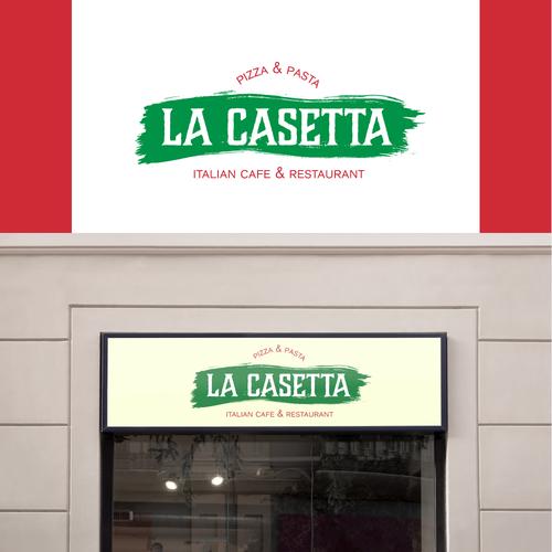 Italian cuisine logo with the title 'Italian cafe & restaurant - logo'