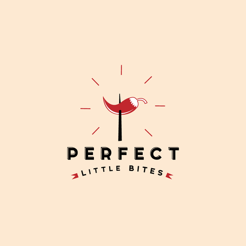 Pepper logo with the title 'PERFECT LITTLE BITES LOGO'