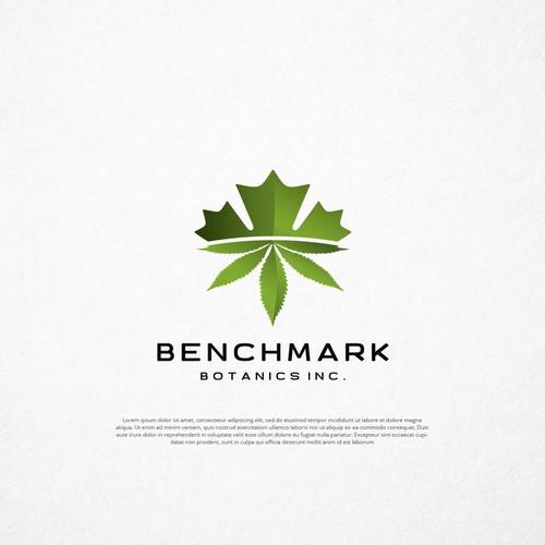 Cannabis leaf logo with the title 'Benchmark Botanics Inc.'
