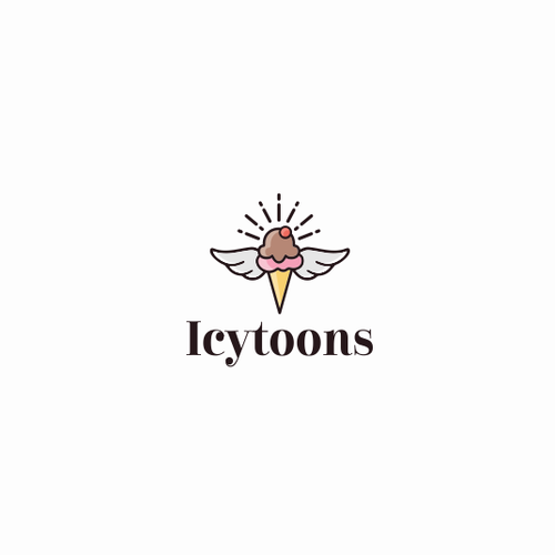 Delicious logo with the title 'Icecream brand'