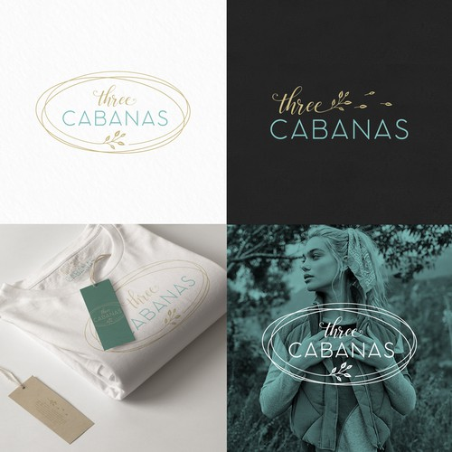 Outfit logo with the title 'Three Cabanas'