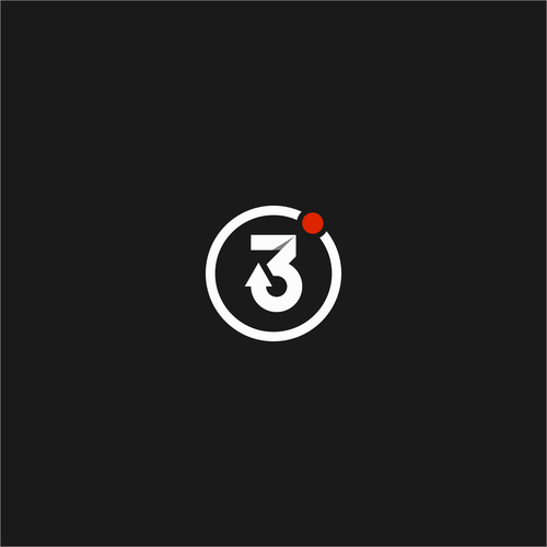 Number 3 logo with the title 'Simple, Clean, and Effective number 3 (possibly incorporate an arrow(s) and or degree symbol'
