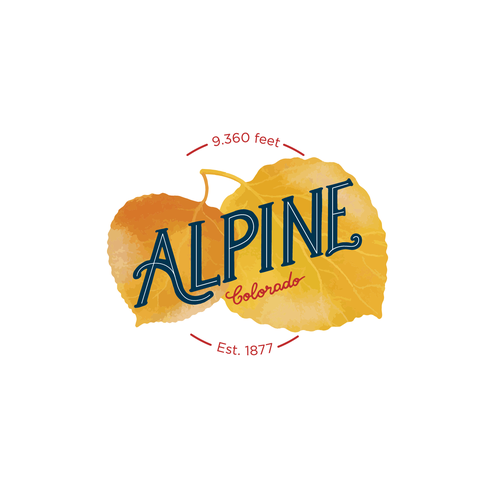 Alpine logo with the title 'Lettering logo'