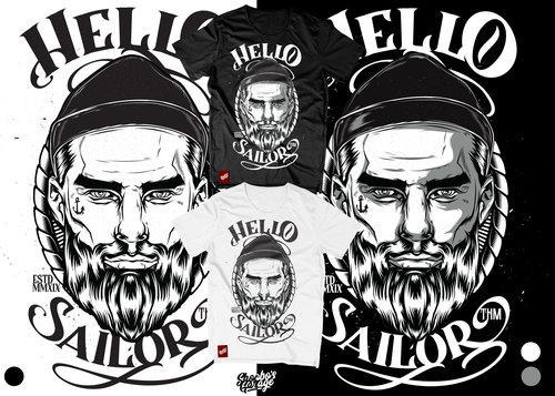 Sea t-shirt with the title 'Hello Sailor'