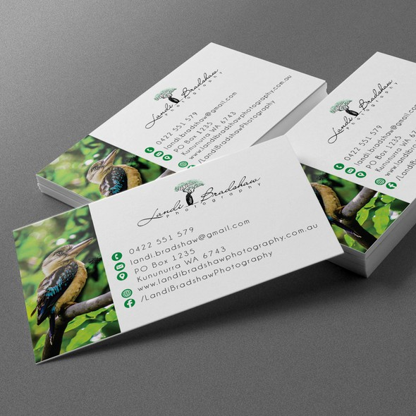 Card brand with the title 'photographer businesscard design'