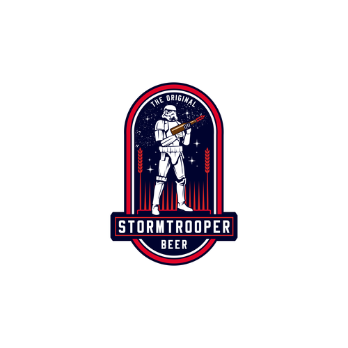 Star Wars design with the title 'STORMTROOPER BEER'