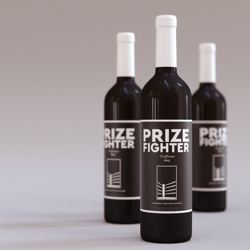 Simplified design with the title 'Wine label'