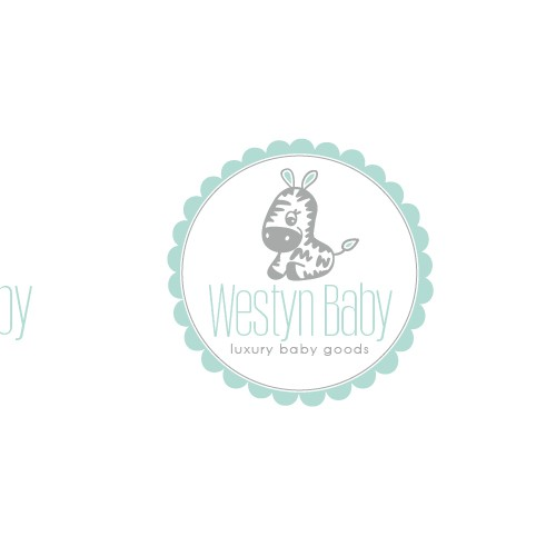Baby boutique logo with the title 'westyn baby logo design'