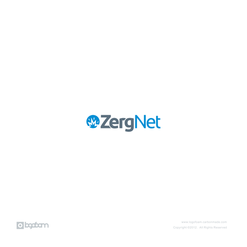Explosion design with the title 'logo design for zergnet'