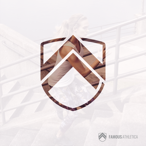 F logo with the title 'Bold logo concept for Famous Athletica'