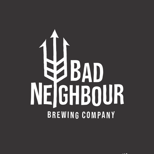 Spear design with the title 'Bad Neighbour'