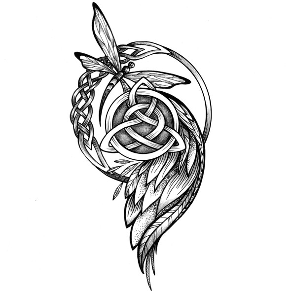Linework design with the title 'Tattoo design'