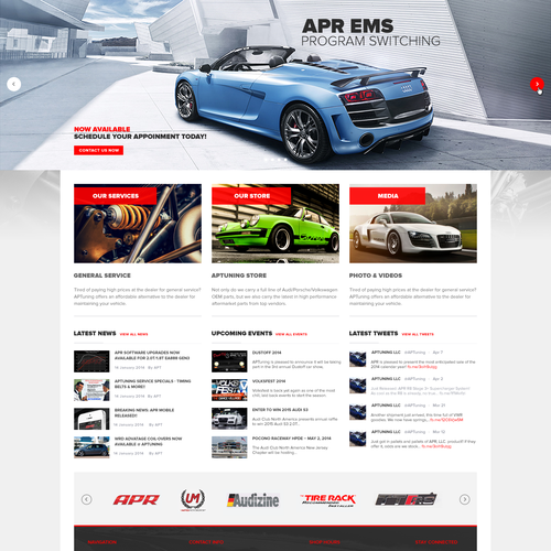 Service website with the title 'Create New Automotive Website'
