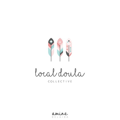 Parent logo with the title 'Local Doula Collective Logo Concept'