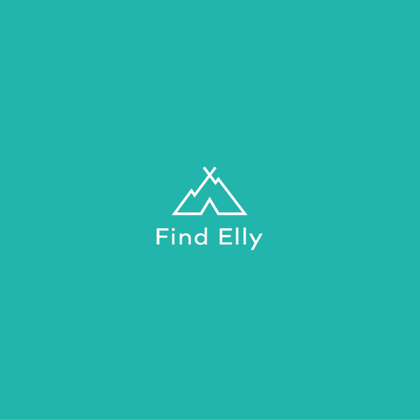 Cave logo with the title 'Find Elly Logo'