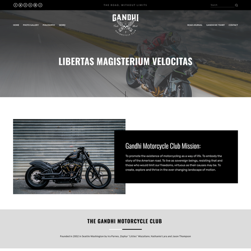 HTML website with the title 'Bold Design For Motorcycle Club'