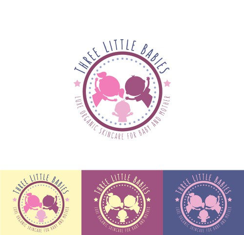 Toddler logo with the title 'Three Little Babies'