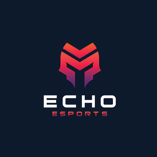 Spartan helmet logo with the title 'ECHO ESPORTS'