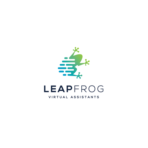 Frog logo with the title 'Design for LEAPFROG Virtual Assistants'