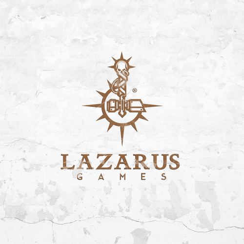 Game brand with the title 'Logo concept for Lazarus Games'