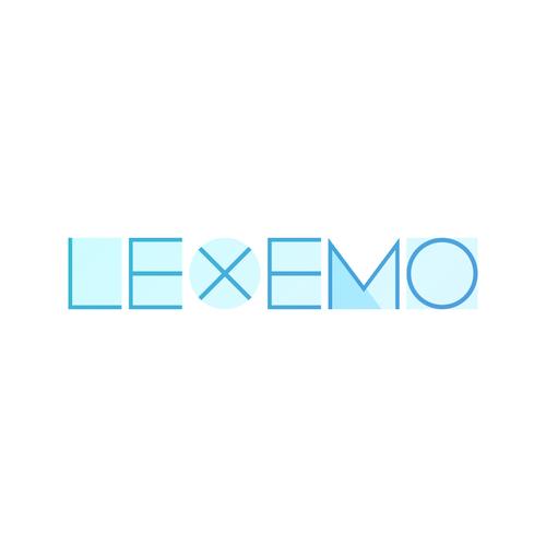 Stroke logo with the title 'Lexemo logotype'