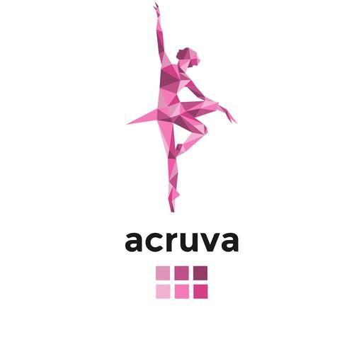Dancer logo with the title 'logo for acruva mobile app'