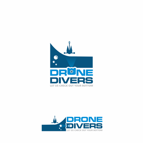 Drone photography logo with the title 'DRONE DIVERS'