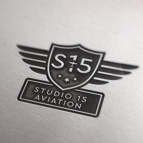 Distressed design with the title 'Logo for S15 aviation'