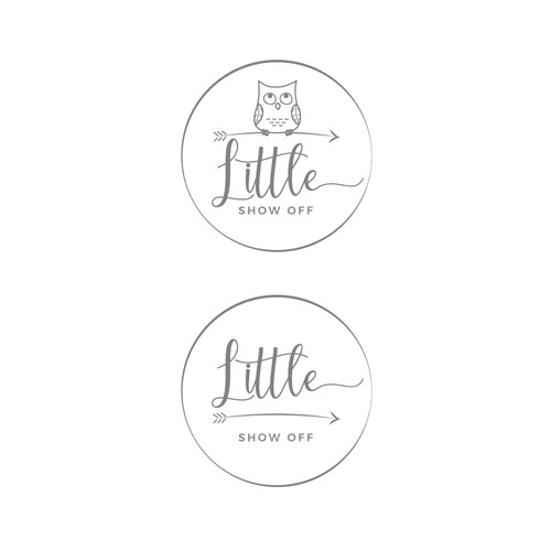 Baby boutique design with the title 'Little show off'
