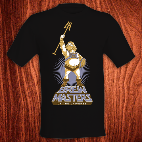 Industrial t-shirt with the title 'Brew Masters T-shirt design'