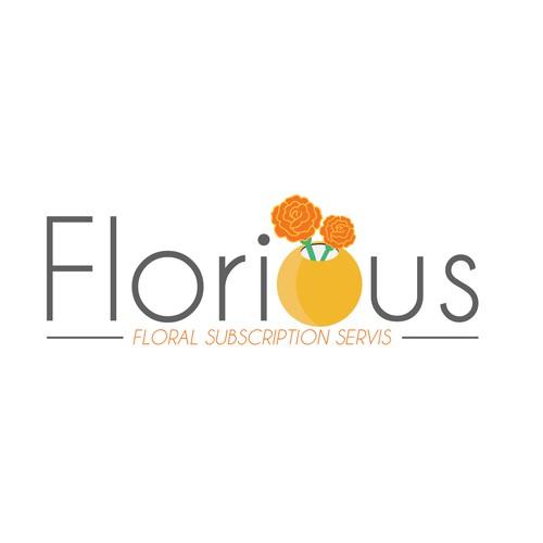 Flora design with the title 'Floral logo design'