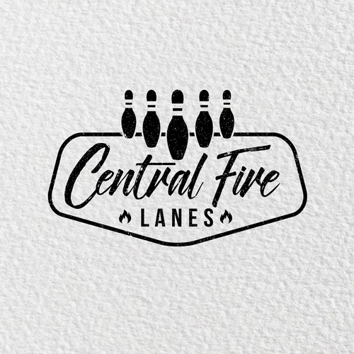 Mid-century modern logo with the title 'Central Fire Lanes'