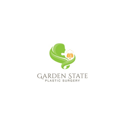 Plastic surgeon logo with the title 'Garden State'