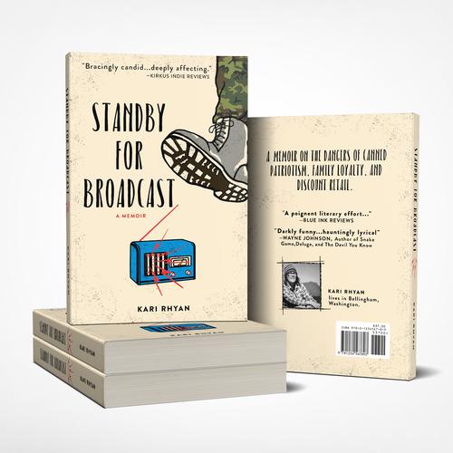 Veteran design with the title 'Retro Anti-War Theme Book cover design'