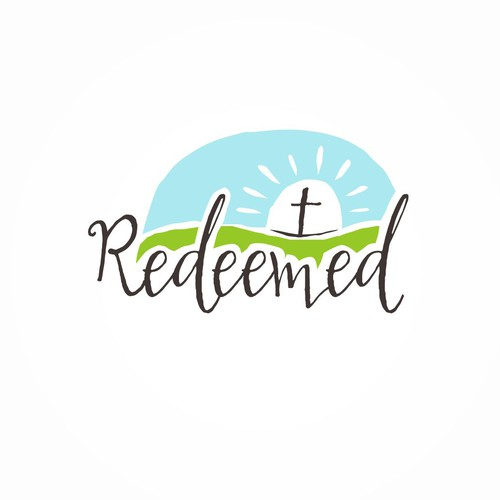 Cross design with the title 'Redeemed Church Logo'