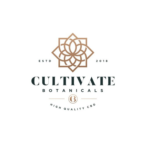 Mandala design with the title 'Modern geometric logo for Cultivate Botanicals,  CBD Company looking for a lifestyle brand logo'