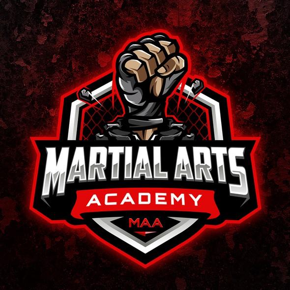Gymnastics design with the title 'Martial Arts Academy'