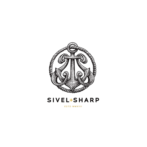 "Sophisticated logo with the title '""Civil + Sharp"" - Civil for being a veteran owned brand and sharp for the well-dressed man.'"