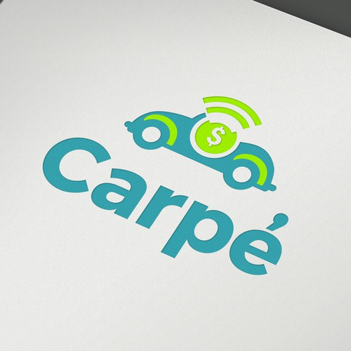 Teal logo with the title 'carpé'