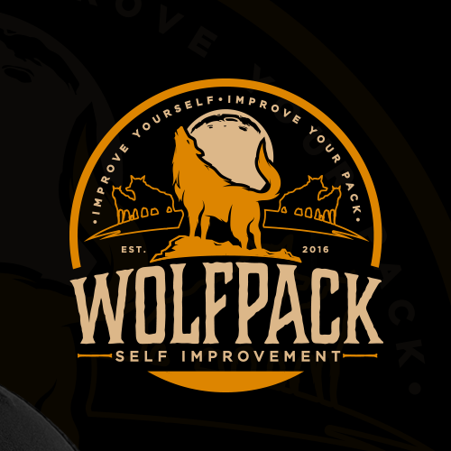 Wolf design with the title 'WOLFPACK SELF IMPROVEMENT'