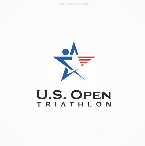 Olympic logo with the title 'U.S. Open Triathlon Logo Design'