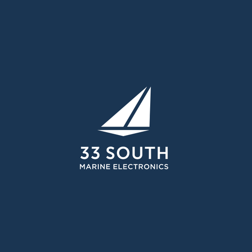 Electronics logo with the title 'Simple logo for marine electronic equipment company: 33 South'