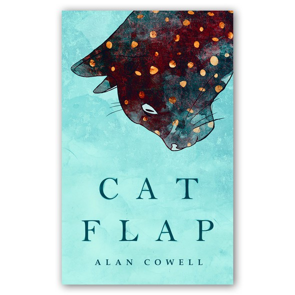 Cat book cover with the title 'Cat Flap -book cover-'