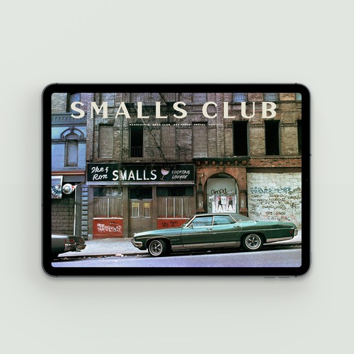 Swedish design with the title 'Frontpage for a membership club. Stockholm, Sweden.'