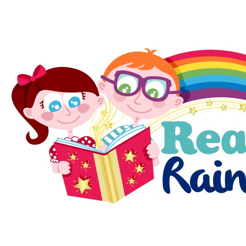 Bookmark logo with the title 'Reading Kids Logo'