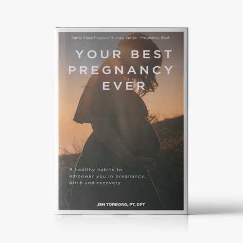 Pregnancy design with the title 'Cover ebook '
