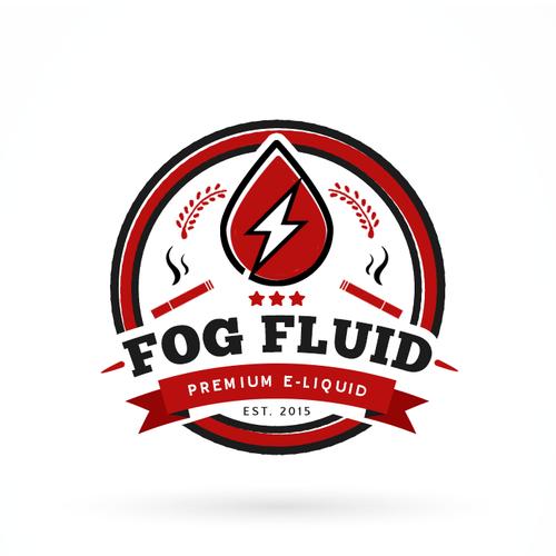 Fog design with the title 'Fog Fluid logo.'