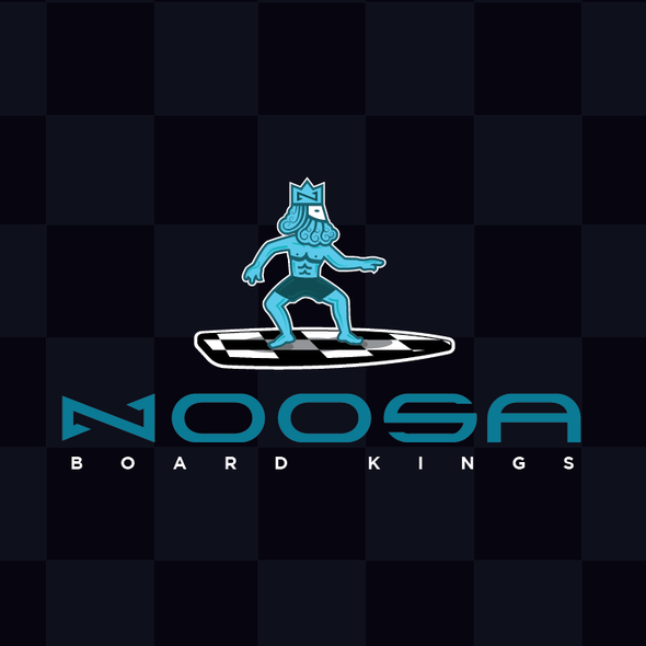 Pawn logo with the title 'Noosa Board Kings Logo'